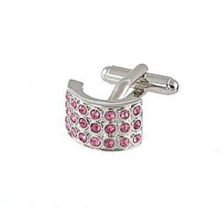 SKU#RT492 Cufflinks Silver Xk 0026S Pink $39