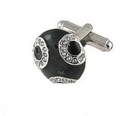 SKU#DV229 Cufflinks Silver Xk 0034S Black $39