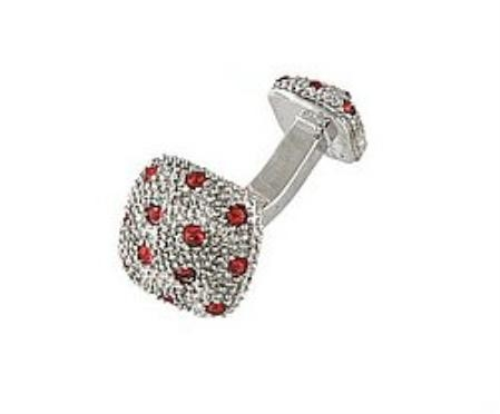 SKU#VM391 Cufflinks Silver Xk 0030S Red $39