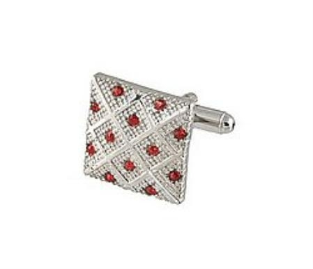 SKU#DN512 Cufflinks Silver Xk 0042S Red $39