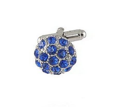 SKU#MO391 Cufflinks Silver Xk 0068S Blue $39