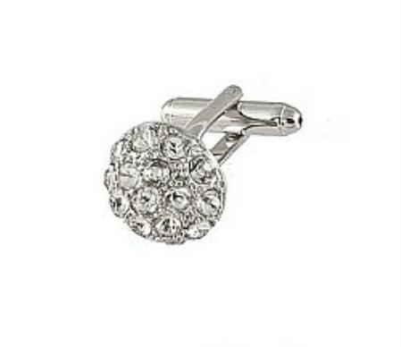SKU#RA143 Cufflinks Silver Xk 0068S Diamond $39