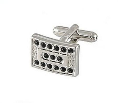 SKU#RE571 Cufflinks Silver Xk 0069S Black $19