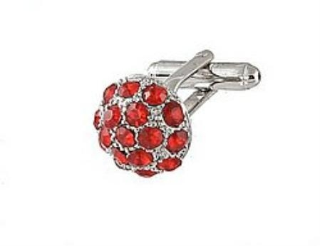 SKU#RJ413 Cufflinks Silver Xk 0068S Red $39