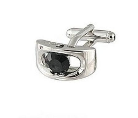 SKU#RH811 Cufflinks Silver Xk 0072S Black $39