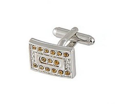 SKU#RH712 Cufflinks Silver Xk 0069S Brown $39