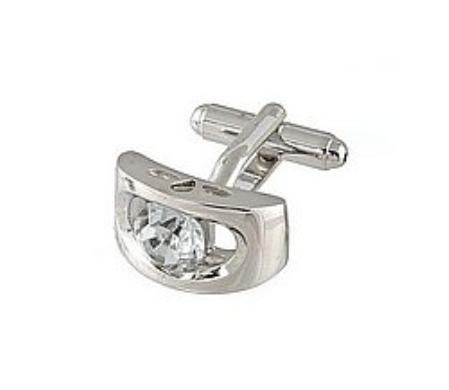 SKU#RS711 Cufflinks Silver Xk 0072S Diamond $39