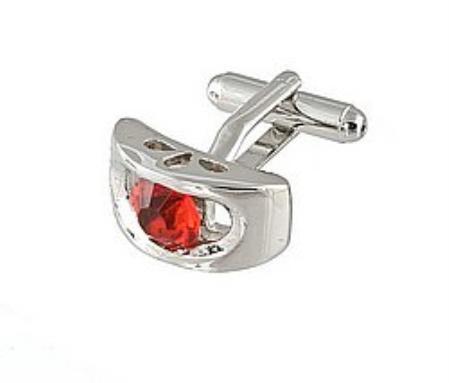 SKU#RK401 Cufflinks Silver Xk 0072S Red $39