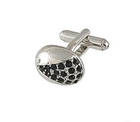 SKU#RB891 Cufflinks Silver Xk 0078S Black $39