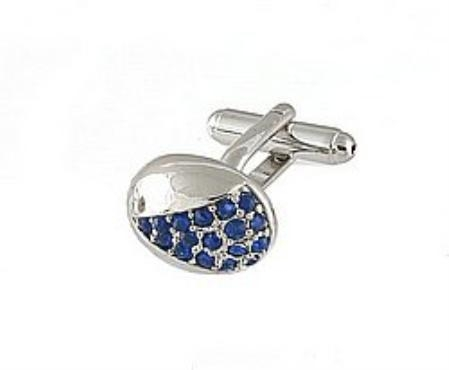 SKU#RV101 Cufflinks Silver Xk 0078S Blue $39