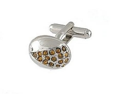 SKU#RN551 Cufflinks Silver Xk 0078S Brown $39