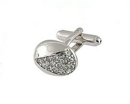 SKU#RF001 Cufflinks Silver Xk 0078S Diamond $39