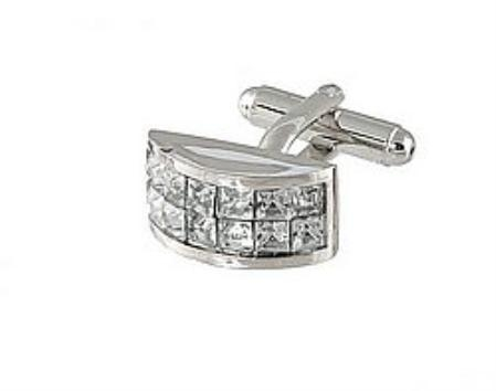 SKU#HJ810 Cufflinks Silver Xk 0098S Diamond $39