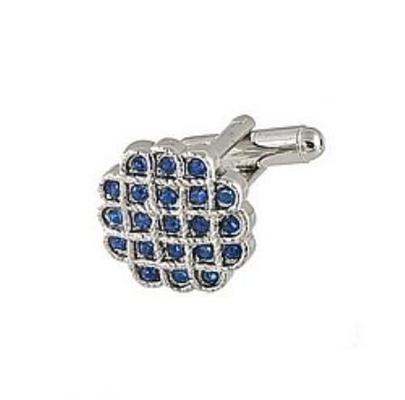 SKU#EH811 Cufflinks Silver Xk 0023S Blue $39