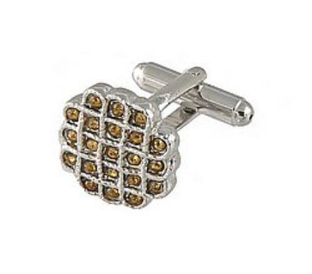 SKU#GF942 Cufflinks Silver Xk 0023S Brown $39