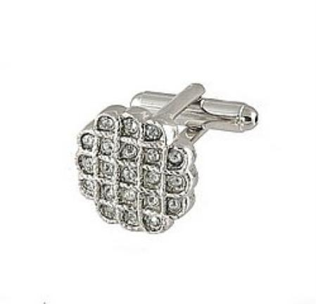 SKU#GD331 Cufflinks Silver Xk 0023S Diamond $39