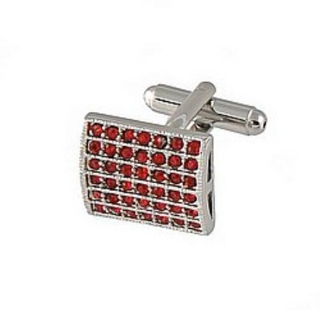 SKU#NB331 Cufflinks Silver Xk 0011S Red $491