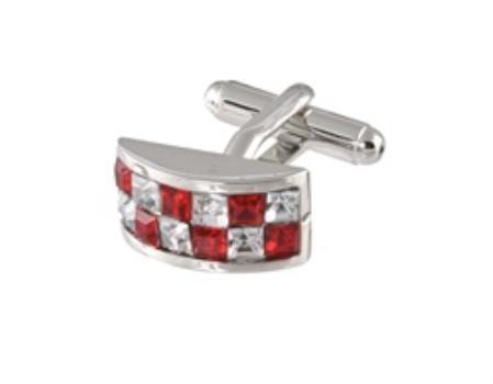 SKU#HN303 Cufflinks Silver Xk 0098S Red&Dia $39