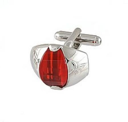 SKU#BH411 Cufflinks Silver Xk 0107S Red $39