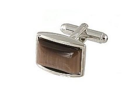 SKU#VG331 Cufflinks Silver Xk 0111S Brown $39