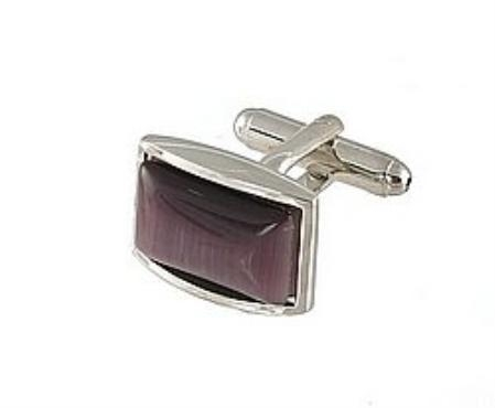 SKU#RK851 Cufflinks Silver Xk 0111S Purple $39