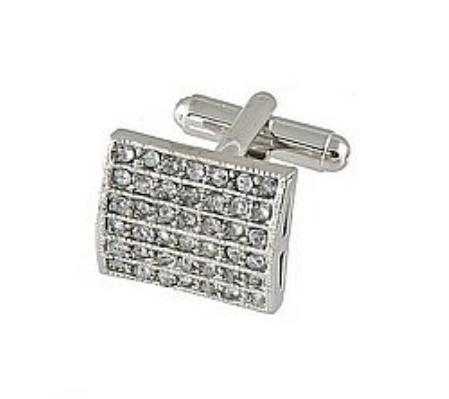SKU#HN501 Cufflinks Silver Xk 0011S Diamond $39