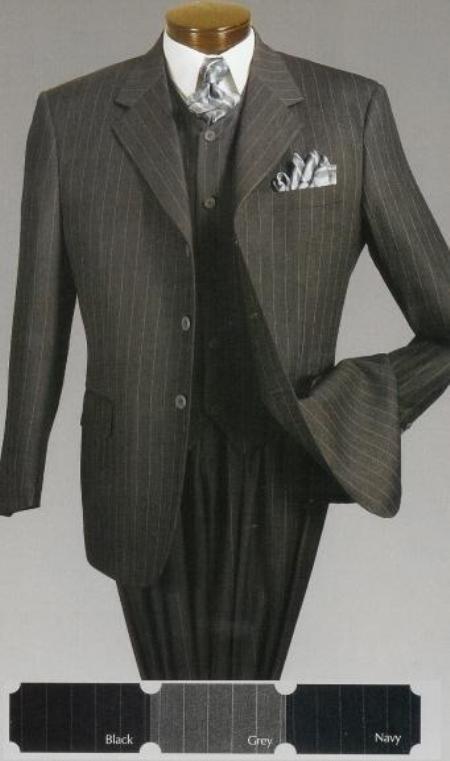 SKU#ST63TRS Mens Classic 3 Piece Pinstripe $159