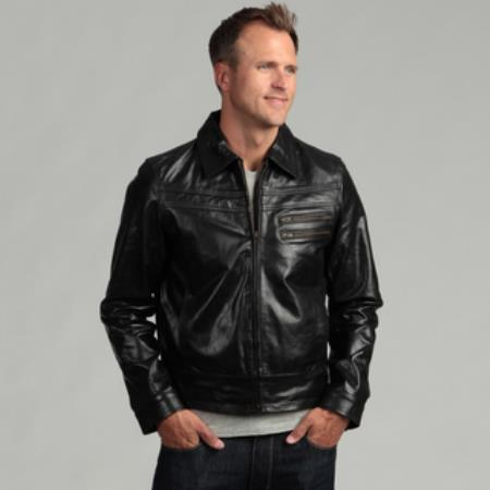 Distressed Black Buffalo Leather