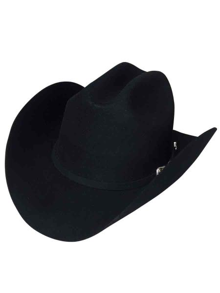 Los Altos Mens  Duranguense Style Black Color Wool Cowboy Hat