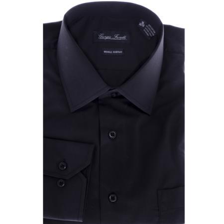 Modern-fit Dress Shirt Black