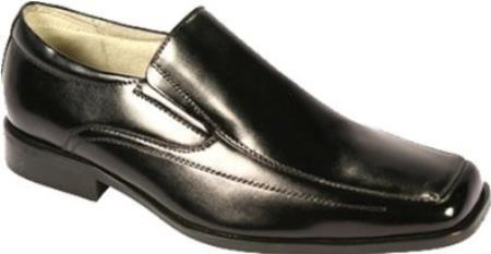 SKU#KR7511 Mens Moc Toe SR Dress Loafers Black