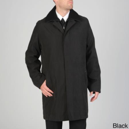SKU#RC-1724 Mens Rudy Microfiber Raincoat Black