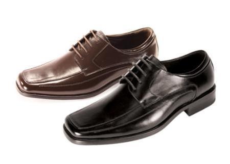 SKU#NN5565 Mens Oxford Black Shoes