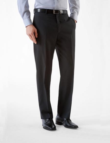 "No Pleat Slacks"" Mens"