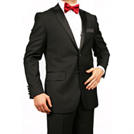 Tapered Leg Lower Rise Pants & Get Skinny Mens Peak Lapel Slim Fit Tuxedo Black