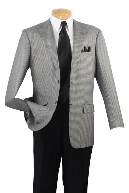 Wool Sport Coat Black