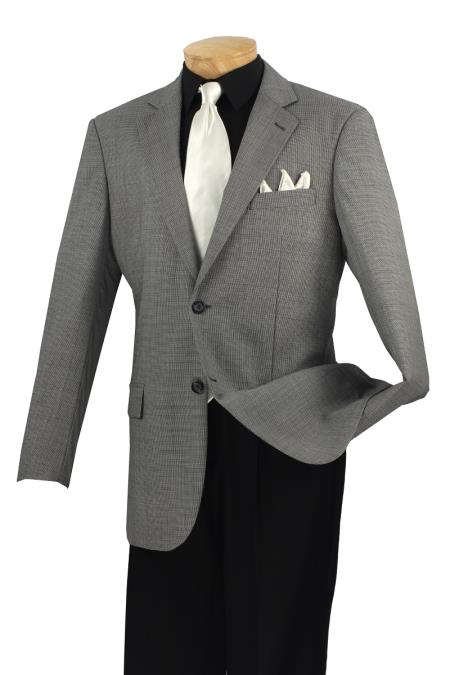 Wool Sport Coat Black