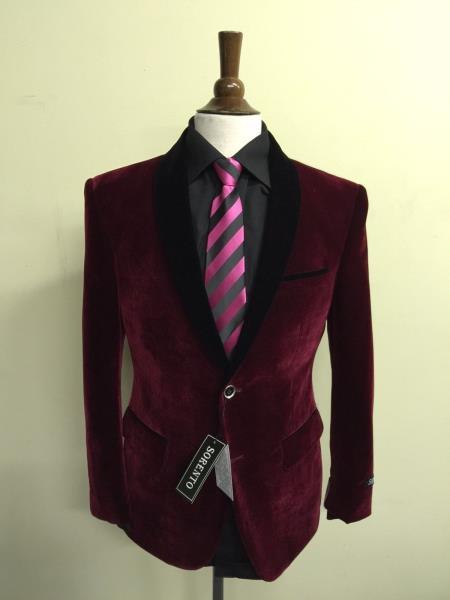 men's velvet ~ velour fabric dinner jacket tuxedo black lapeled