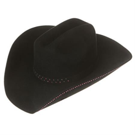 Tejana Black Frost Felt Cowboy Hat