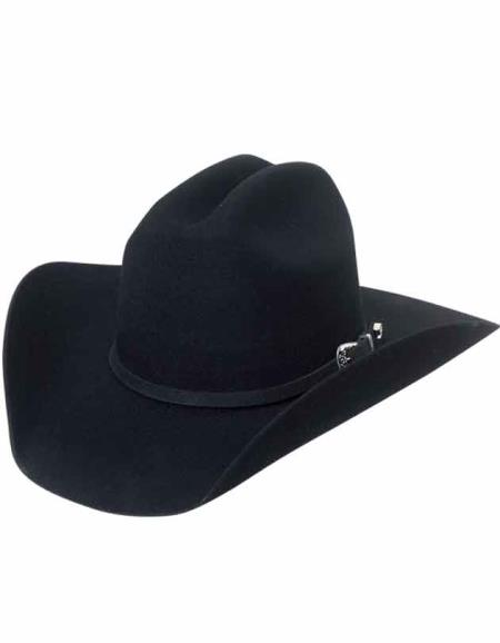 Expertly crafted wide brim ventilated silver buckle perfect fit western hat for men