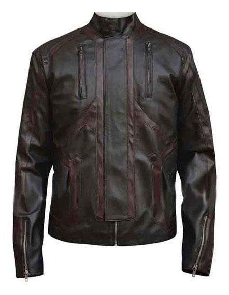 Mens Bucky Barnes Dark Brown Zipper Cuffs Jacket
