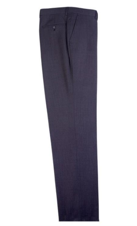 Buy SM4702 Men's Tiglio Dress Slacks Dark Gray Flat Front Birdseye Pattern Modern Fit Wool Pants
