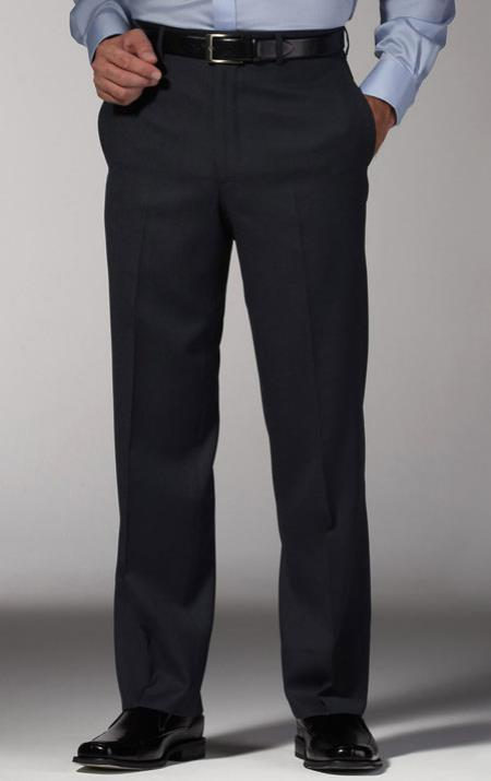 Men's Alberto Dark Grey Slim Fit Dress Men's Tapered Men's Dress Pants