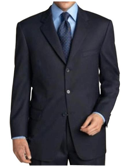 $795 #Zlk4 I Deal Dark Navy Blue Suit For Men Suit features classic three button 100% sophisticated Wool