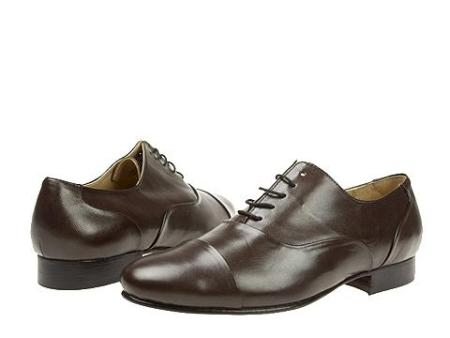 SKU# 65444 Dark Brown Classic cap-toe lace-up in hand-finished leather with genuine leather $99