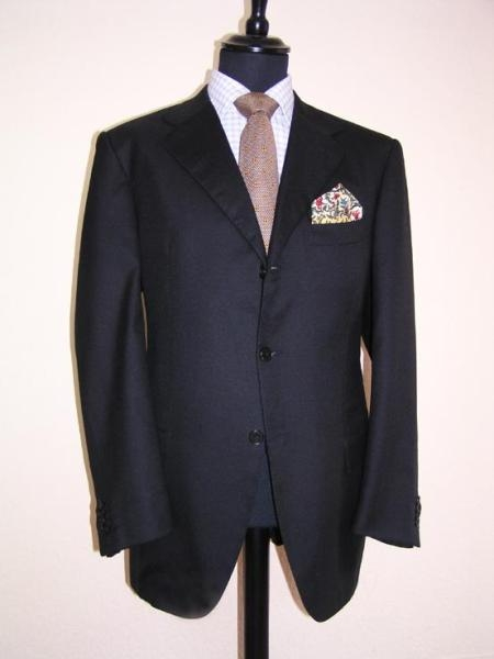 SKU# 120GTL Darkest Navy Blue 3 Buttons Super 120s Wool
