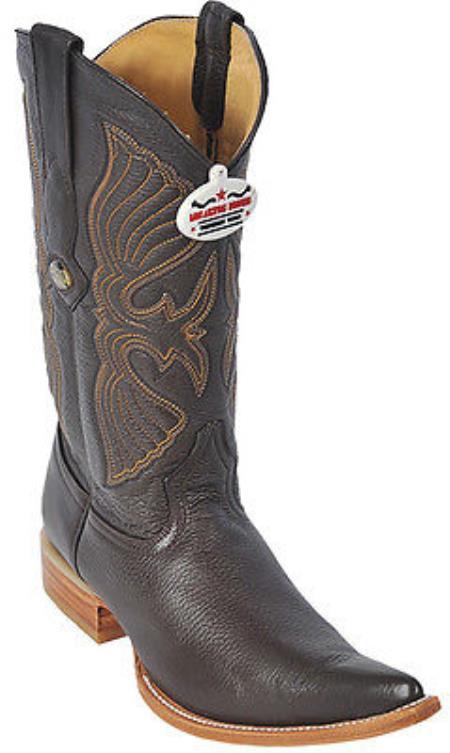 Deer Brown Los Altos Men's Western Boot ~ botines para hombre Cowboy Design Pointy Toe