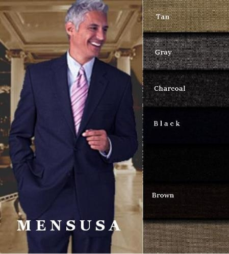 MensUSA.com Designer HARDICK TWo 2 Buttons Style Super Worsted Wool Suits Comes in 10 colors(Exchange only policy) at Sears.com