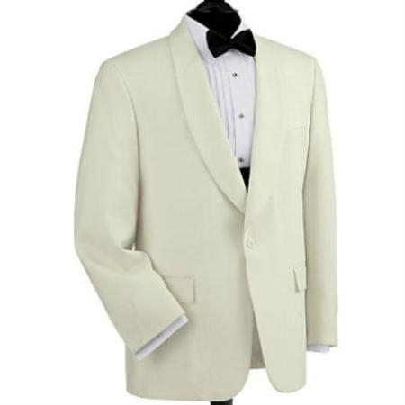 SKU# LPK429  Dinner Jacket 1-button Shawl, Single-breasted Color: white $179