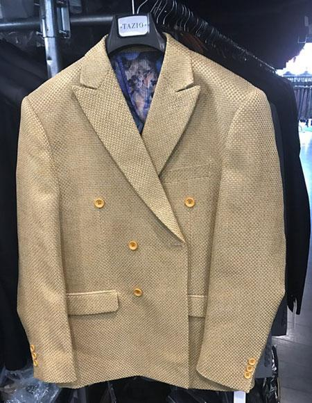 Men's Gold ~ Mustard ~ Camel Double Breasted Suits